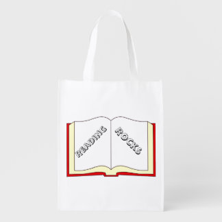 A leitura balança a bolsa de compra sacola ecológica para supermercado