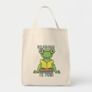 A leitura do sapo é t-shirt e presentes do diverti bolsa tote
