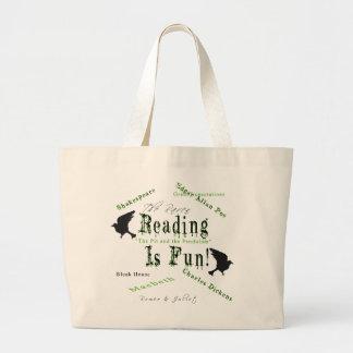 A leitura é divertimento! bolsas para compras