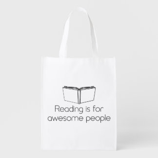 A leitura é para pessoas impressionantes sacolas reusáveis