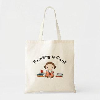 A leitura é saco bonito da biblioteca do macaco da sacola tote budget