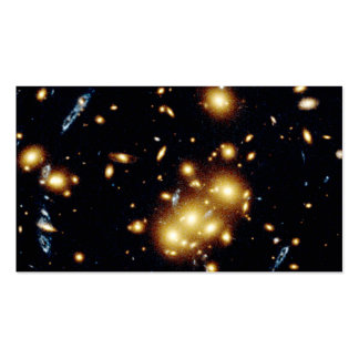 A lente gravitacional captura a imagem da gala pri modelo de cartões de visita