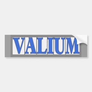 A letra azul telha o Valium Adesivo Para Carro