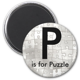 """A """"letra P"""" é para os ímãs das crianças do Ímã Redondo 5.08cm"""