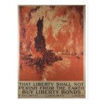 A liberdade da guerra mundial 1 liga a propaganda  cartão postal