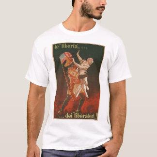 A liberdade do poster da propaganda dos camiseta