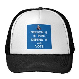 A liberdade está no perigo defende-o e vota-a boné