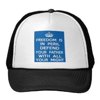 A liberdade está no perigo defende seu pai boné