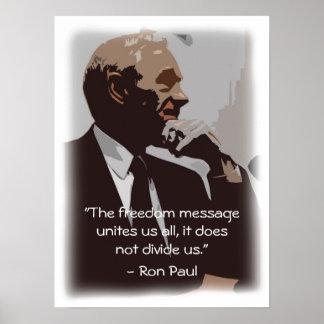 A liberdade une-nos pôster