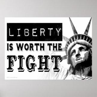 A liberdade vale o poster da arte do protesto da