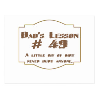 A lição #49 do pai: cartão