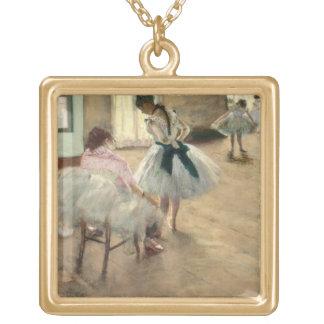 A lição de dança, c.1879 (óleo em canvas) colares