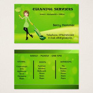 A limpeza presta serviços de manutenção ao cartão