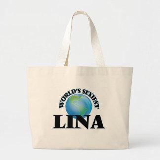 "A Lina a mais ""sexy"" do mundo Sacola Tote Jumbo"