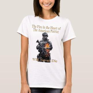 A linha americana da roupa do patriota camiseta