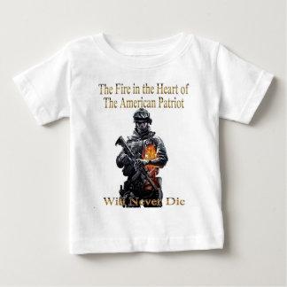 A linha americana da roupa do patriota camiseta para bebê