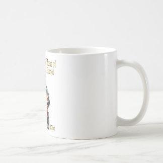 A linha americana da roupa do patriota caneca de café