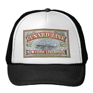 A linha de Cunard Boné