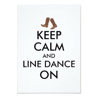 A linha presente da dança mantem botas de vaqueiro convite 12.7 x 17.78cm