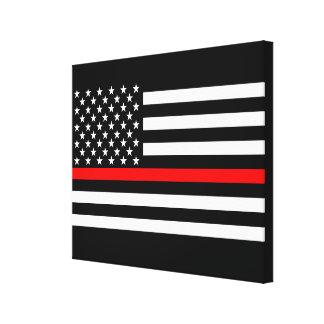A linha vermelha fina decoração da bandeira