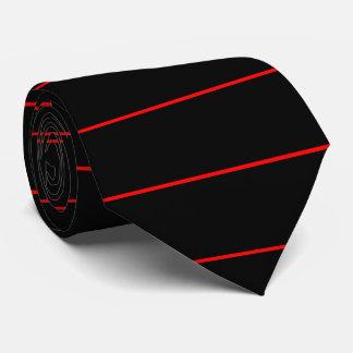 A linha vermelha fina simbólica forma em a gravata