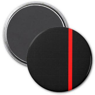 A linha vermelha fina simbólica no preto ímã redondo 7.62cm