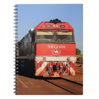 A locomotiva do trem de Ghan, Darwin Caderno Espiral