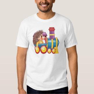 a locomotiva e o ouriço camisetas