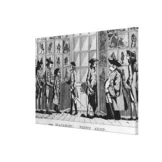 A loja de cópias do macarrão, bar. por N. Darley Impressão De Canvas Envolvidas