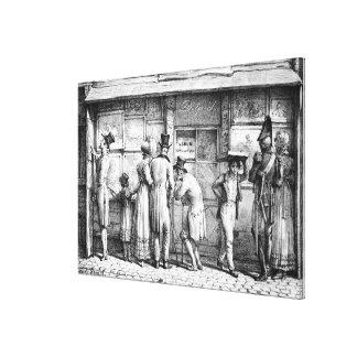 A loja de cópias litográfica de Delpech, c.1818 Impressão De Canvas Envolvida