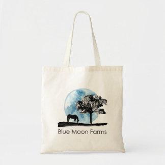A lua azul cultiva o bolsa do logotipo