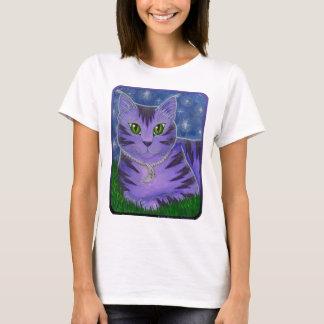 A lua celestial de Astra Stars a camisa da arte T