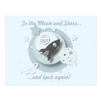 """""""À lua e às estrelas…"""" Cartão"""