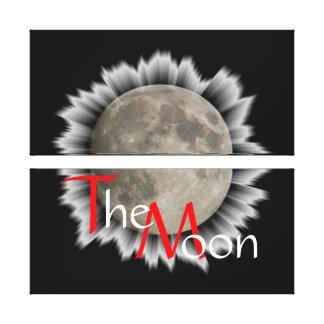 A lua la lune la luna linho the moon impressão em tela canvas