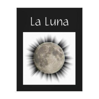 A lua la lune la luna linho the moon impressão de canvas envolvidas