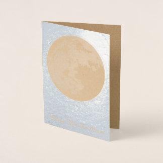 A lua personalizada cartões da Lua cheia carda a