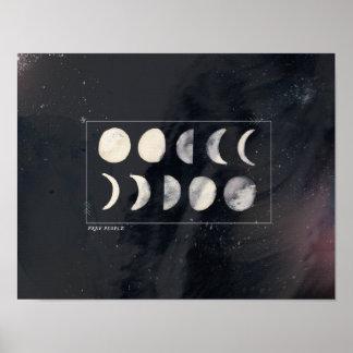 A lua pôr em fase o poster pôster