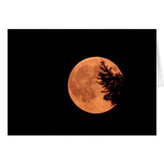 A lua super! cartão comemorativo