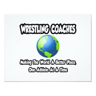 A luta treina… o mundo do fazer um lugar melhor convite 10.79 x 13.97cm