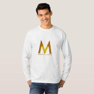 A luva longa da camisa místico de T