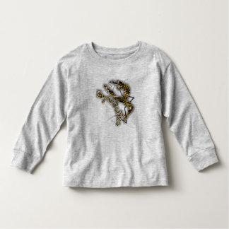 A luva longa das crianças do tigre da ginástica camiseta
