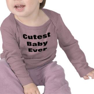 A luva sempre longa a mais bonito do bebê camisetas