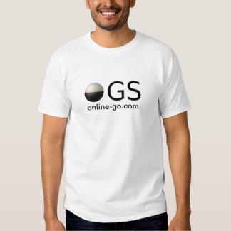 a luz de logotipo dos ogs coloriu o endereço das t-shirts