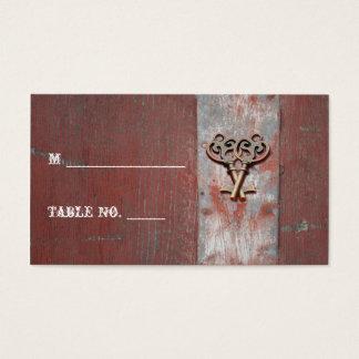 A madeira pintada país fecha cartões do lugar do