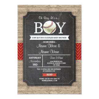 A madeira vermelha dos esportes do menino do chá convite 12.7 x 17.78cm