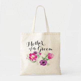 A mãe da aguarela do noivo floresce o bolsa