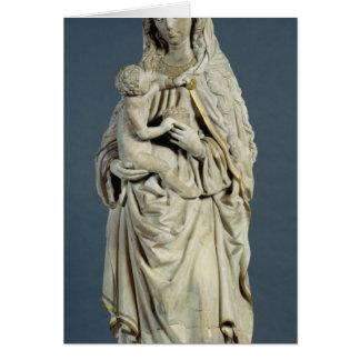 A mãe do deus com o cristo infantil, 1470 cartão comemorativo