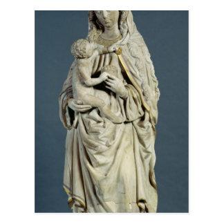 A mãe do deus com o cristo infantil, 1470 cartão postal