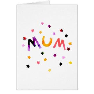 A mãe Stars o cartão