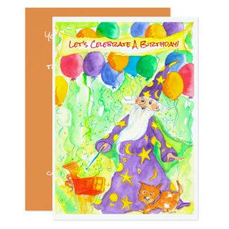A mágica do feiticeiro Balloons o convite de